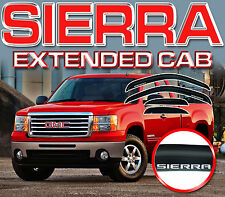 SIERRA EXTENDED CAB 2007-2013 SIDE WINDOW DEFLECTORS with LOGO - VISOR SHADES