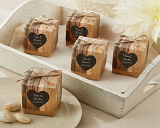 96 PERSONALIZED Hearts In Love Rustic Theme Wedding Favor Boxes