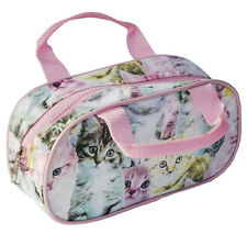 CUTE KITTEN PENCIL CASE MAKE UP BAG TOILETRY BAG CAT ZIP UP WATERPROOF BAG