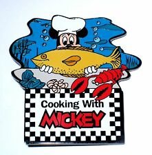 LE 100 Disney Auctions Pin✿Mickey Mouse Chef Cooking Seafood Fish Lobster Ocean