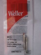 "Weller Chisel Shaped Replacement Tip #MT3  1/8"" Diameter SP23 Solder iron NEW"