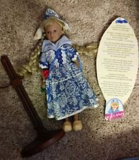 """Unimax Dolls Of All Nations 12"""" HOLLAND Vintage '95, info, doll stand lot Target"""