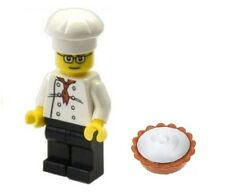 LEGO Chef Baker Minifig with Pie / Cake Food Town City NEW
