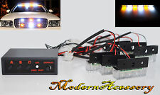 12V 18 LED WHITE/AMBER FLASH STROBE LAMPS FRONT REAR GRILLE/BAR/ROOF LIGHT R