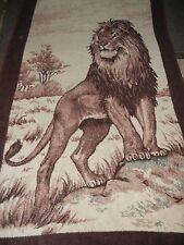 VTG.LION.JUNGLE.SAN MARCOS.REVERSIBLE.BLANKET.COMFORTER.BEDSPREAD