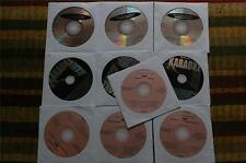 10 CDG LOT ROCK OLDIES KARAOKE- AEROSMITH,BEATLES,BON JOVI CD+G  20a