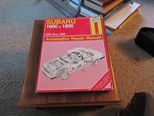 1980 THRU 1988 HAYNES SUBARU 1600 & 1800 AUTOMOTIVE REPAIR MANUAL