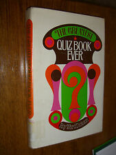 The Greatest Quiz Book Ever by Roy Ward Dickson (1974, Book, Illustrated) *