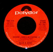 """OLLIE & JERRY """"BREAKIN'...THERE'S NO STOPPING US"""" POLYDOR 821708 (1984) 45rpm"""