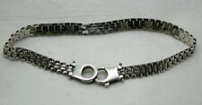 Very Nice 9ct White Gold Narrow Brick Link Bracelet
