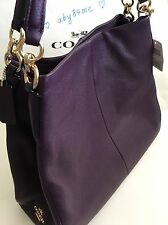 *NWT* Coach Phoebe Pebbled Leather Shoulder Bag Aubergine Purple F35723