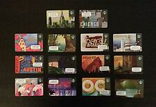 2016 Complete Set Starbucks City Cards New York, Chicago, OC, LA, San Diego, DC