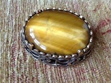 Vintage Miracle Brooch - Scottish Celtic, banded agate, signed Miracle