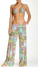 NWT Sz Large Trina Turk Coral Reef Roll Top  Pants Swim Cover