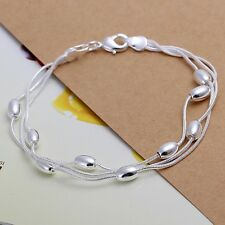 nice new charms silver plated bracelet jewelry trend cute women Bead Bracelets