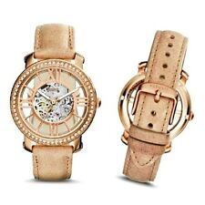 FOSSIL Ladies WATCH ME3060 SKELETON MECHANICAL ROSE GOLD 60 Crystals Bezel $265