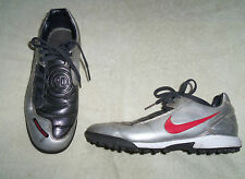 BOYS NIKE TOTAL NINETY 90  SILVER ASTRO TURF FOOTBALL BOOTS  UK SIZE 5.5