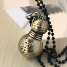 Hot Anime Naruto Sand Hidden Village Gaara Gourd Pendant Necklace Cosplay Gifts