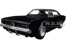 1969 DODGE CHARGER R/T BLACK 1/24 DIECAST MODEL CAR BY NEW RAY 71895