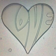 Flexible Mold Love Word Heart Mould Resin, Chocolate Or Soap Mould