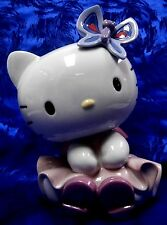 DRESSED FOR THE PARTY HELLO KITTY PORCELAIN 2014 FIGURINE NAO BY LLADRO  #1796