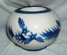 Round ASIAN VOTIVE TEALIGHT CANDLE HOLDER Ceramic Blue and White