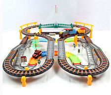 Electric Train Set For Kids Rolling Rail RoadWay Gift Boys Deluxe Scale 192pcs