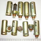 7pin TUBE SOCKETS, WITH 60mm ALUMINUM SHIELD (SPRING INSIDE)! NOS! LOT OF 8
