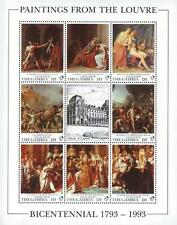 LOUVRE MUSEUM = GAMBIA 1993 MNH  **  DAVID PAINTINGS M/S NAPOLEON, MILITARY