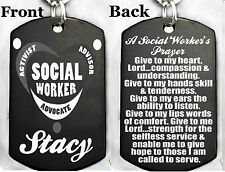 A SOCIAL WORKER'S PRAYER - Dog tag Necklace or Key chain + FREE PERSONALIZATION