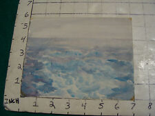 vintage Watercolor art:  CRUSHING WAVES or WATERS, marked on back hard to read