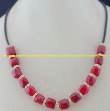 GENUINE! Natural Red Sea Coral Necklace 18''