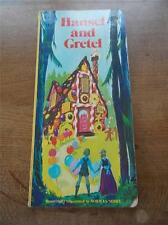 """HUGE Vtg 1st Ed Childrens Fairy Tales Story Book HANSEL & GRETEL c1960 17"""""""