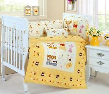 Baby Bedding Crib Cot Sets - Winnie the Pooh Theme. Brand New Design (9-Piece)