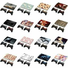 Many Designs Skin Sticker Cover Decal Fr PS3 Super Slim CECH-4000 +2 Controllers