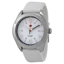 Tommy Hilfiger White Dial White Rubber Ladies Watch 1781255