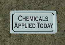 CHEMICALS APPLIED TODAY Metal Sign Classic Style Golf Course or Country Club