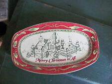 """Fitz and Floyd St Nick """"Merry Christmas to All"""" Ceramic Plate - Great Condition!"""