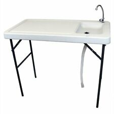 Portable Outdoor Sink Table Faucet Garden Camping Grill BBQ Fishing Hunting Deer