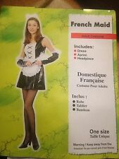 LADIES FRENCH MAID ADULT COSTUME PARTY FANCY DRESS HALLOWEEN