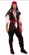 Da Uomo Caraibi Capitan Jack Sparrow Pirata Costume Addio al celibato Party UK