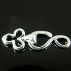 Hook & Eye Club Shape Silver Plated jewellery making Finding Clasps 5 10 30 K347