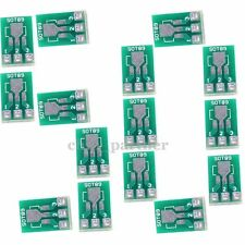 50pcs SOT89 To DIP SOT223 Adapter PCB Board Converter 1.5mm Pitch Pin Space