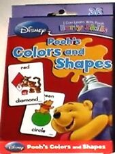 DISNEY WINNIE THE POOH *Colors & Shapes* FLASH CARDS Boys Girls Ages 3-7 NEW!