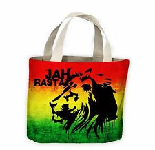 Jah Rasta Tote Shopping Bag For Life - Reggae Bob Marley Rastafarian