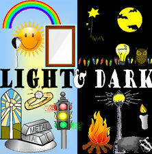 LIGHT AND DARK Science  teaching resource topic resources KS1 KS2 Home school CD