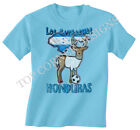 Honduras Football Mascot World Cup 2014 Brazil Boys/Girls T-Shirt Childrens T242