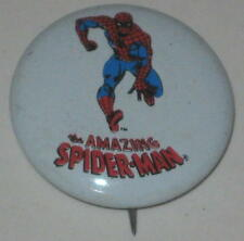 "1970's Spiderman Tin Litho Pin 3/4"" #2"