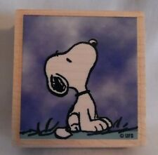 "Rubber Stamp Snoopy Looking Up Approx. 2 1/4"" X 2"""