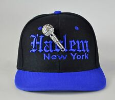 """Harlem MC"" custom bling snapback cap"